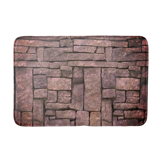 Trendy grey beach stone texture design bath mat