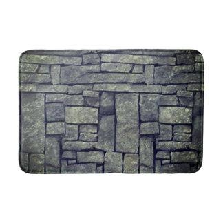 Trendy grey beach stone texture design bath mat. bath mat