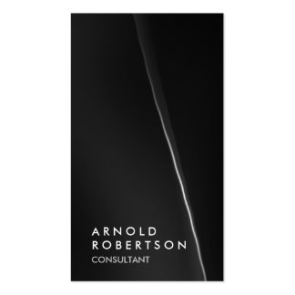 Trendy Grey Black Consultant Business Card