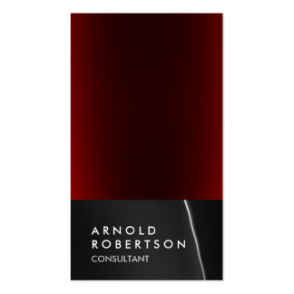 Trendy Grey Red Consultant Business Card