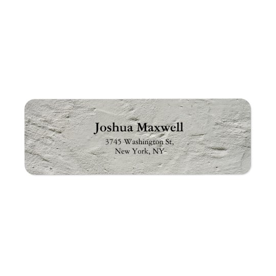 Trendy Grey Wall Plain Elegant Stylish Return Address Label