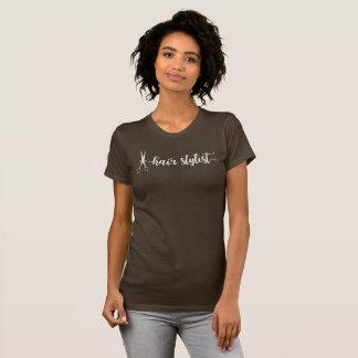 Trendy Hair Stylish Ladies Girly Design T-Shirt