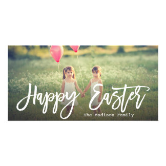 Trendy Hand Lettered Script | Easter Photo Photo Card