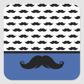 Trendy Handlebar Mustache Moustache Stache Square Sticker