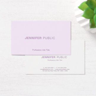 Trendy Harmonic Colors Professional Elegant Plain Business Card