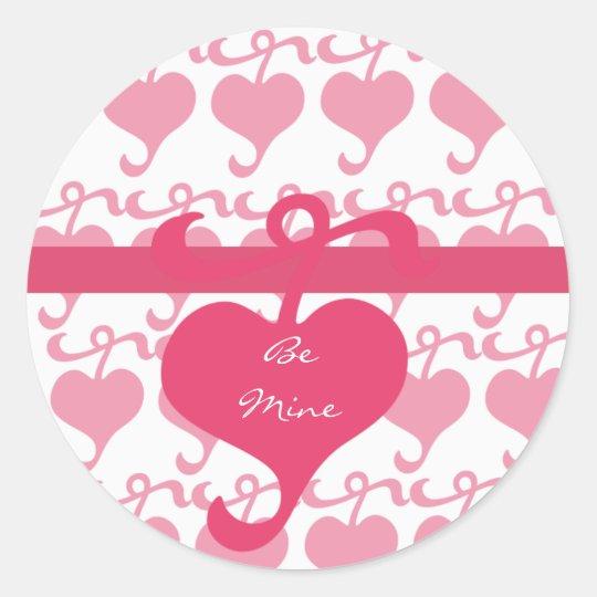 Trendy Heart Design Valentine's Day Sticker