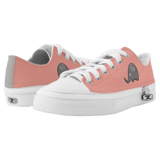 Trendy Hip Stylish Iconic Spiral Elephants Low-Top Sneakers