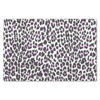 Trendy hipster pink black animal print pattern tissue paper