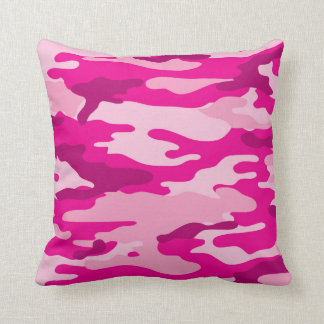 Trendy Hot Pink Camouflage Bedroom Decor Throw Pillow