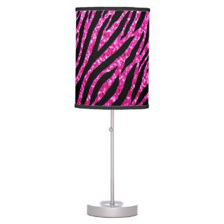 Trendy Hot Pink Zebra Print Glitz Glitter Sparkles Table Lamp