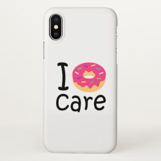 Trendy I Donut Care funny phrase quote emoji iPhone X Case