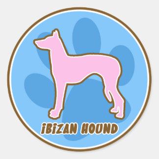 Trendy Ibizan Hound Classic Round Sticker