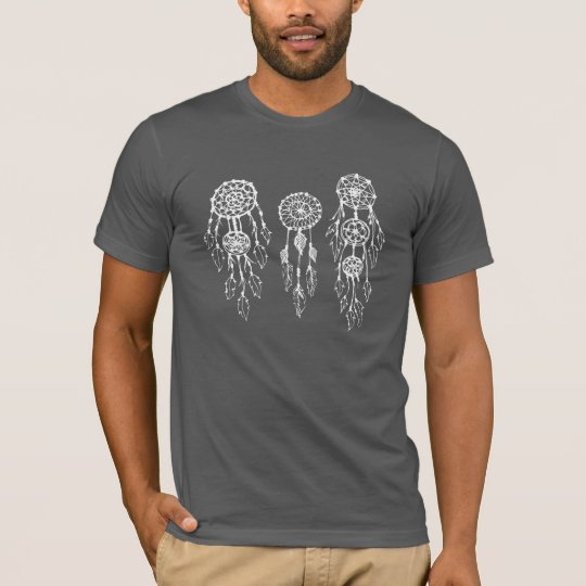 Trendy Illustrated Bohemian Dreamcatchers T-Shirt