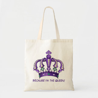 "Trendy ""I'm the Queen"" Crown Shopping/Tote Bag"
