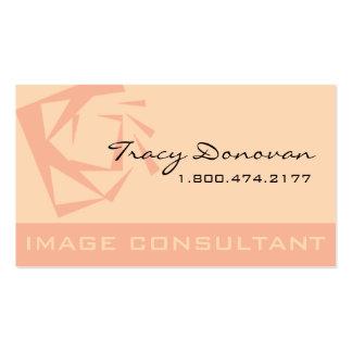 "Trendy Image Consultant Designer ""Quartz"" | pink Pack Of Standard Business Cards"
