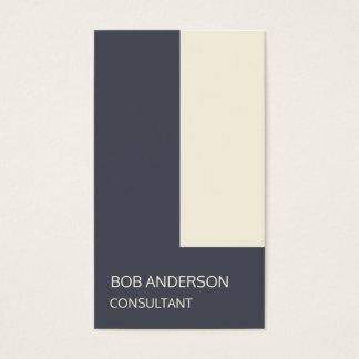 Trendy Indigo Ivory Architectural Minimalism Business Card