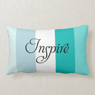 Trendy Inspire blue striped throw pillow