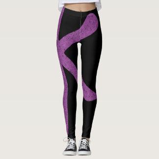 Trendy Japanese Purple Sparkles Party Leggings