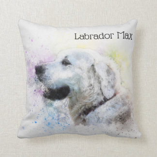 Trendy Labrador Retriever Personalized Throw Pillow