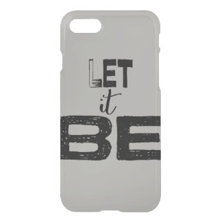 Trendy Large Chunky Let It Be Lettering iPhone 8/7 Case