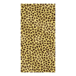 Trendy Leopard Cheetah Print Custom Photo Card