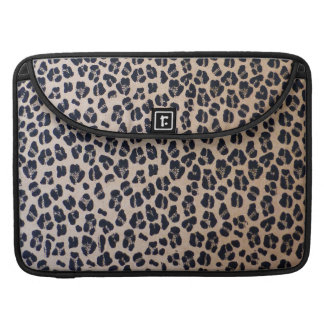 Trendy Leopard Print Abstract, Macbook Sleeve