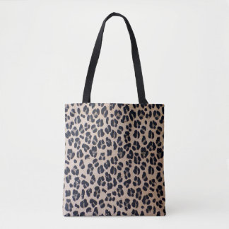 Trendy Leopard Print Abstract Tote Bag