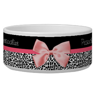 Trendy Leopard Print and Pink Ribbon With Name