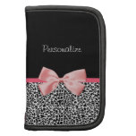 Trendy Leopard Print and Pink Ribbon With Name Organizer