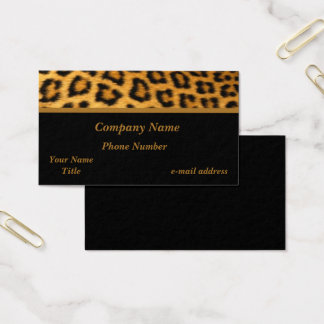 Trendy Leopard Print Business Card