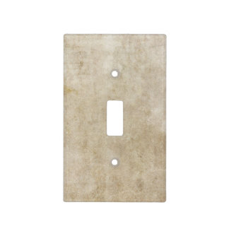 Trendy Light Brown Grunge Light Switch Cover