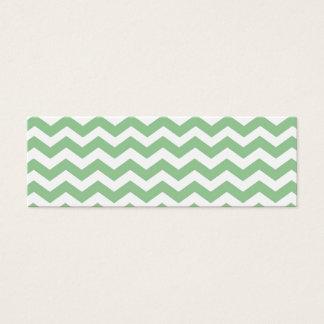 Trendy lime green chevron zigzag pattern, classic, mini business card