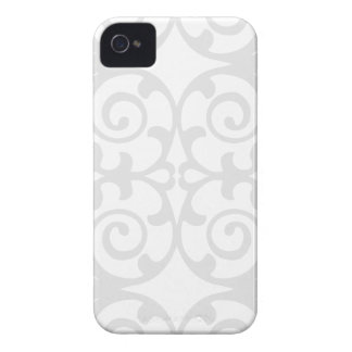 Trendy Lite Gray Damask Pattern iPhone 4 Case-Mate Case