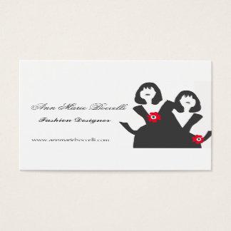 Trendy Little Black Dress Stylist Women Models Business Card