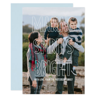 Trendy Making Spirits Bright Overlay Holiday Card
