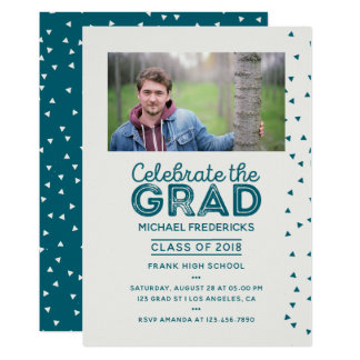 Trendy Male Photo Graduation Party invitation
