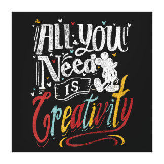Trendy Mickey | All You Need Is Creativity Canvas Print