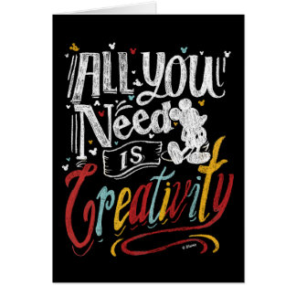 Trendy Mickey | All You Need Is Creativity Card