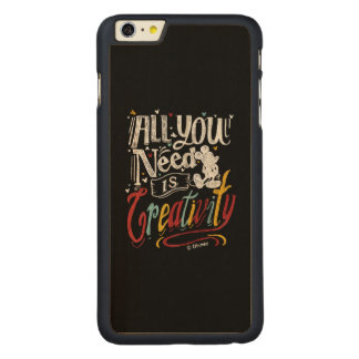 Trendy Mickey | All You Need Is Creativity Carved® Maple iPhone 6 Plus Case