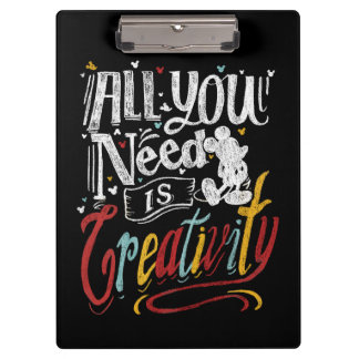 Trendy Mickey | All You Need Is Creativity Clipboard