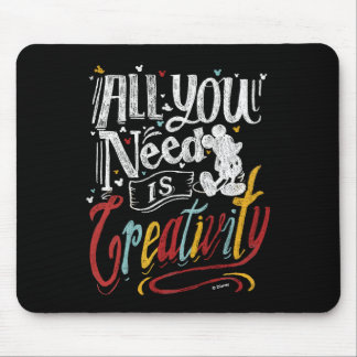 Trendy Mickey | All You Need Is Creativity Mouse Pad