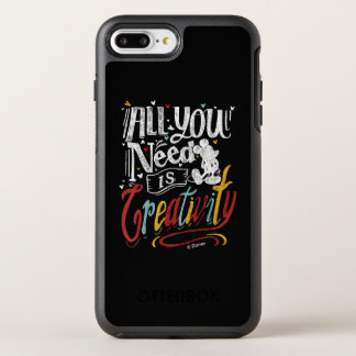 Trendy Mickey   All You Need Is Creativity OtterBox Symmetry iPhone 7 Plus Case