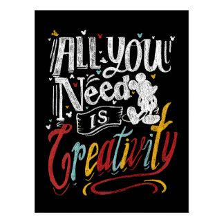 Trendy Mickey | All You Need Is Creativity Postcard