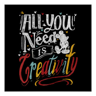 Trendy Mickey | All You Need Is Creativity Poster