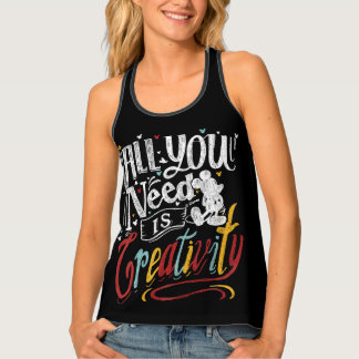Trendy Mickey | All You Need Is Creativity Tank Top