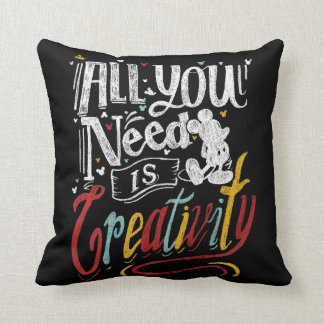 Trendy Mickey | All You Need Is Creativity Throw Pillow