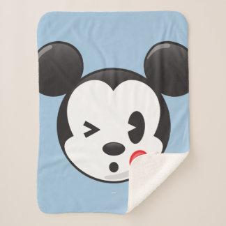 Trendy Mickey | Flirty Emoji Sherpa Blanket