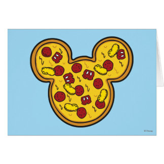Trendy Mickey | Head-Shaped Pizza Card