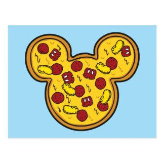 Trendy Mickey | Head-Shaped Pizza Postcard