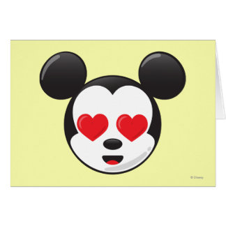 Trendy Mickey | In Love Emoji Card